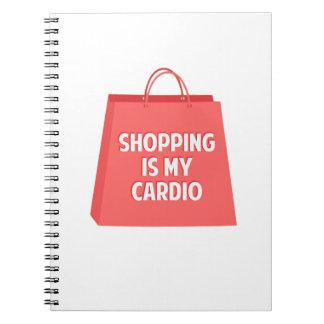 Das Einkaufen ist mein Herz Spiral Notizblock