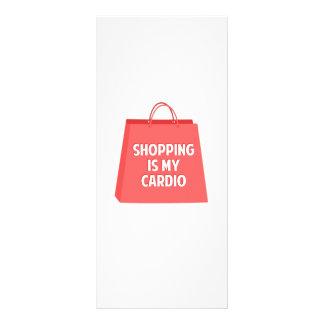 Das Einkaufen ist mein Herz Werbekarte