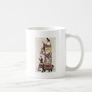 Das Elefantenuhr durch Syrischer Maler Um 1315 Kaffee Tassen