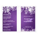 Das elegante viktorianische Hochzeits-Programm blü Individuelle Flyer