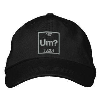 Das Element der Verwirrungs-Stickerei Bestickte Kappe