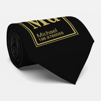 Das Element von Ihnen! Name-schwarzes periodisches Individuelle Krawatten