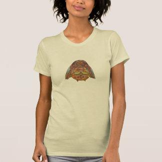 Das Elfenbein-Eulen-T-Stück der Frau T-Shirt