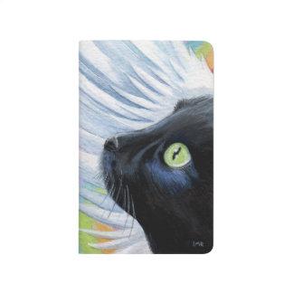 Das Enden-Schwarz-Engels-Katzen-Malerei des Taschennotizbuch