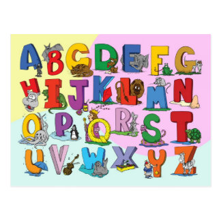Das englische Alphabet Postkarte