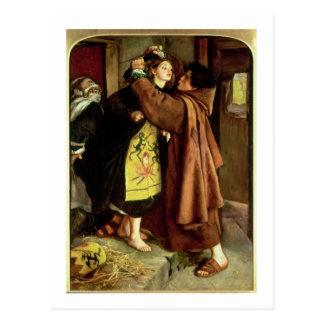 Das Entweichen eines Häretikers, 1559, 1857 (Öl Postkarte