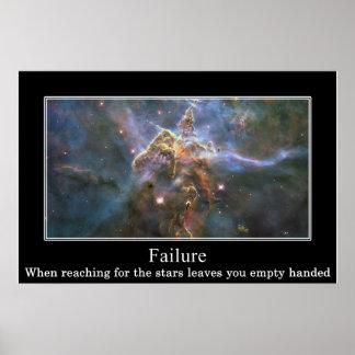 Das Erreichen für die Sterne kann Sie mit leeren Poster