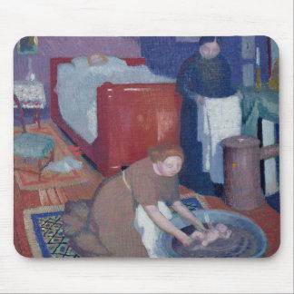 Das erste Bad, c.1899 Mousepad
