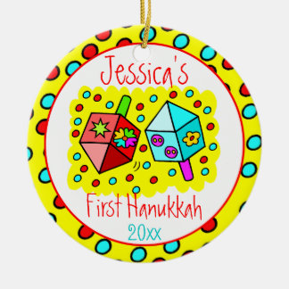 Das erste Chanukka des Babys - EINSEITIG Keramik Ornament