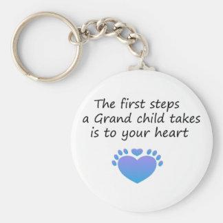 Das erste Schritt-einzigartige Enkelkind Schlüsselanhänger