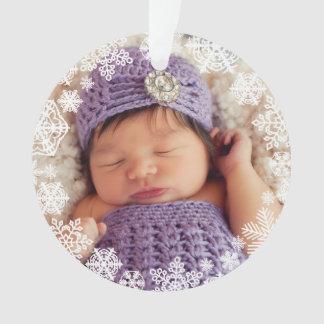 Das erste Weihnachten des Babys der Ornament