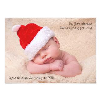 Das erste Weihnachten des Babys - 12,7 X 17,8 Cm Einladungskarte