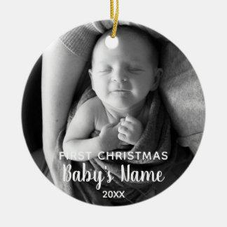 Das erste Weihnachten des Babys - moderne Keramik Ornament