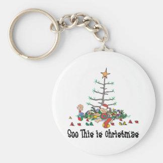 Das erste Weihnachten des Babys Schlüsselanhänger