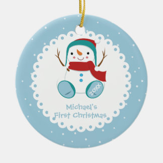 Das erste Weihnachten des Keramik Ornament