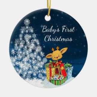 Das erste Weihnachten des personalisierten Keramik Ornament