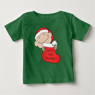 """""""Das erste Weihnachten """" des Weihnachtsbabys Baby T-shirt"""