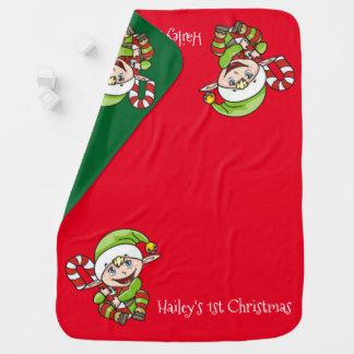 Das erste Weihnachten des Weihnachtself-Babys Kinderwagendecke