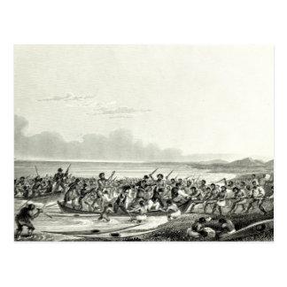 Das Eskimoes, welches die Boote plündert Postkarte