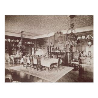 Das Esszimmer, Wickham Hall, Kent, 1897 Postkarte
