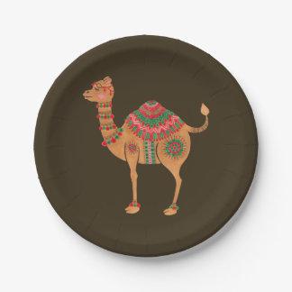 Das ethnische Kamel Pappteller
