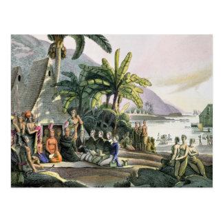 Das Expeditions-Party und der König Kamehameha I Postkarte