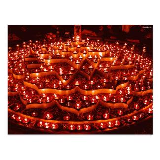 Das Festival der Lichter in Indien Postkarte