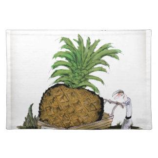 Das fetteste pineapple Liebe-Yorkshire'Welt Stofftischset