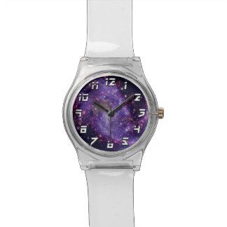 Das Feuerwerk-Galaxie-Weltraum-Foto Armbanduhr