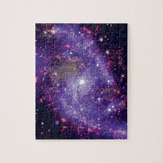 Das Feuerwerk-Galaxie-Weltraum-Foto Puzzle