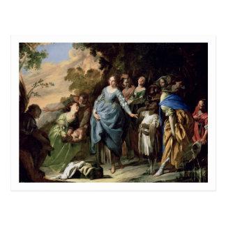 Das Finden von Mosese, c.1650-56 (Öl auf Leinwand) Postkarte