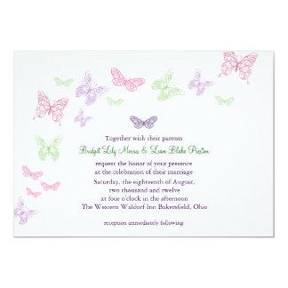 Das Flattern-Hochzeits-Einladung des Herzens eine 12,7 X 17,8 Cm Einladungskarte