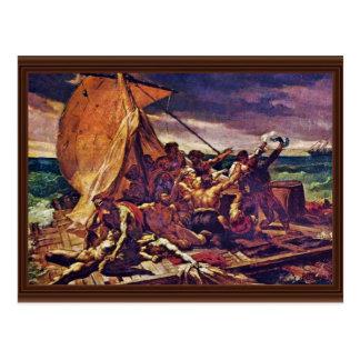 Das Floss der Medusa (Studie) durch Géricault Jean Postkarte