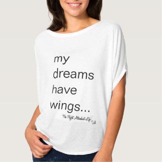 Das Flugbegleiter-Leben: Träume + Flügel-T - Shirt