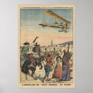 """Das Flugzeug """"der kleinen Zeitschrift"""", das vorbei Posterdruck"""
