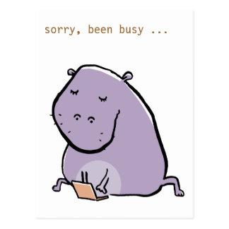 das Flusspferd (beschäftigt) - fertigen Sie es Postkarten