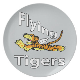 Das Flying Tigers - Winged Tiger Melaminteller