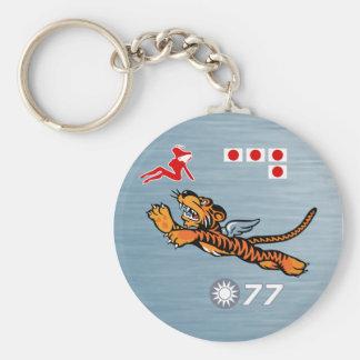 Das Flying Tigers WWII Nasen-Kunst Schlüsselanhänger