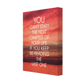 Das folgende Kapitel-Leben-Zitat Leinwanddruck