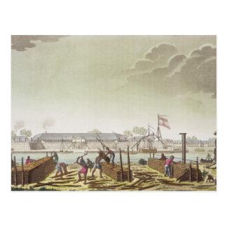 Das Fort in Batavia mit gebürtigen Blockwinden, Postkarte