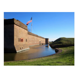Das Fort und die Flagge Postkarte