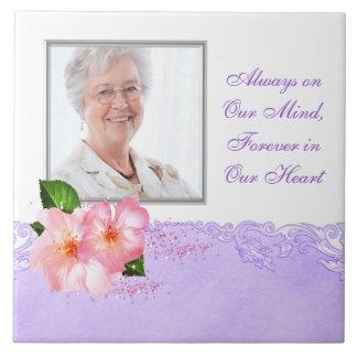 Das Foto-Denkmal-Fliese der rosa Kirschblüten-Frau Fliese