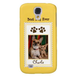 Das Foto-Gewohnheit 3G (Gelb) Ihres Haustieres Galaxy S4 Hülle