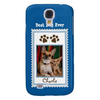 Das Foto-Gewohnheit 3G Ihres Haustieres (blau) Galaxy S4 Hülle