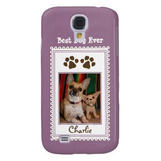 Das Foto-Gewohnheit 3G Ihres Haustieres (lila) Galaxy S4 Hülle