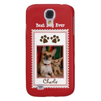 Das Foto-Gewohnheit 3G Ihres Haustieres (rot) Galaxy S4 Hülle