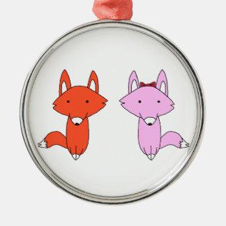 Das fox-Shirt Silbernes Ornament