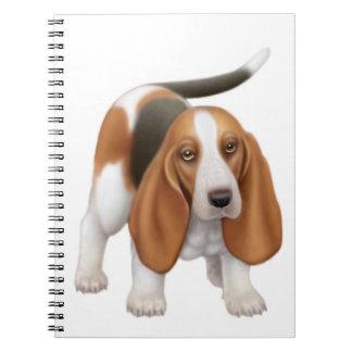 Das freundliche Basset Hound-Hundenotizbuch Spiral Notizblock