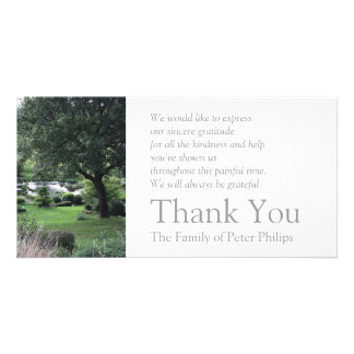 Das friedliche Beileid des Garten-6 danken Ihnen 2 Karte