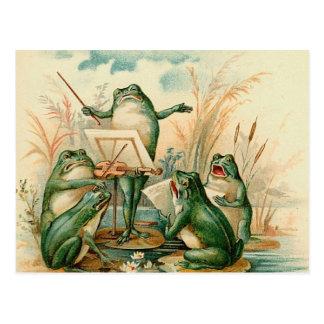 Das Frosch-Band Postkarte